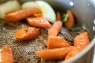 Ree Drummond - Pioneer Woman Pot Roast.  This is THE BEST recipe. So incredibly tender and flavorful.