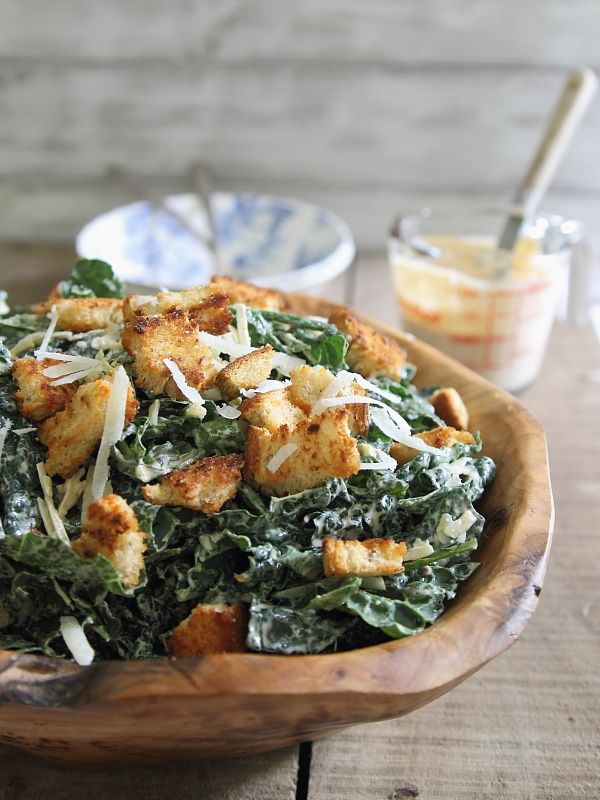 Sriracha Kale Caesar Salad via Running to the Kitchen (plus more Kale recipes)