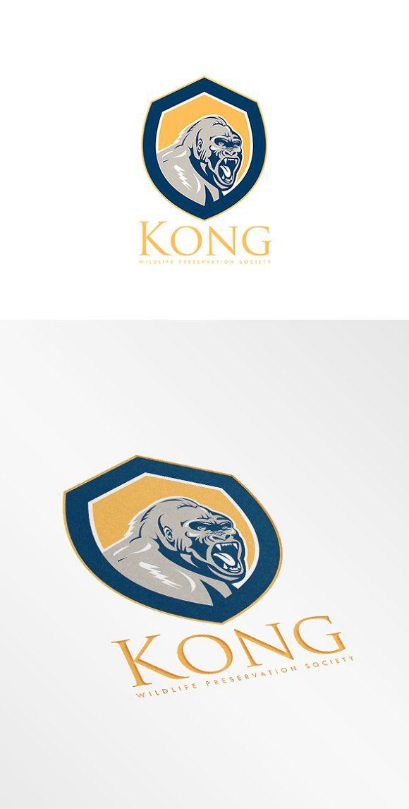 Kong Wildlife Society Logo by patrimonio on @creativemarket