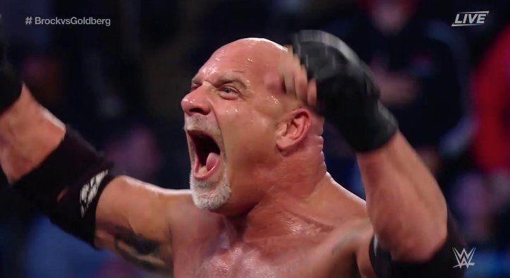 Goldberg Squashes Brock Lesnar At WWE Survivor Series