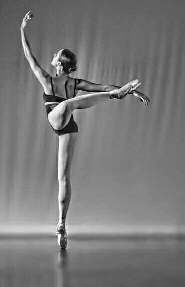 Ballet Term: Attitude - a ballet pose performed by ...