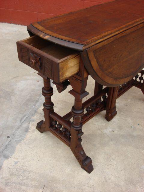 American Antique Victorian Drop Leaf Table Antique Furniture