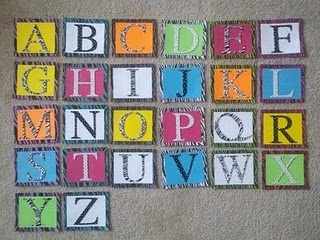 word wall letters....cute. : )