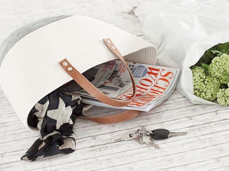 DIY tutorial: Sew a Rope Basket Bag via en.DaWanda.com