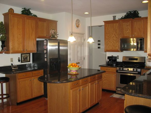 Pictures Of Cambria Countertops With Honey Oak Cabinets Your Help Our Kitchen Tan Brown Granite Countertop And