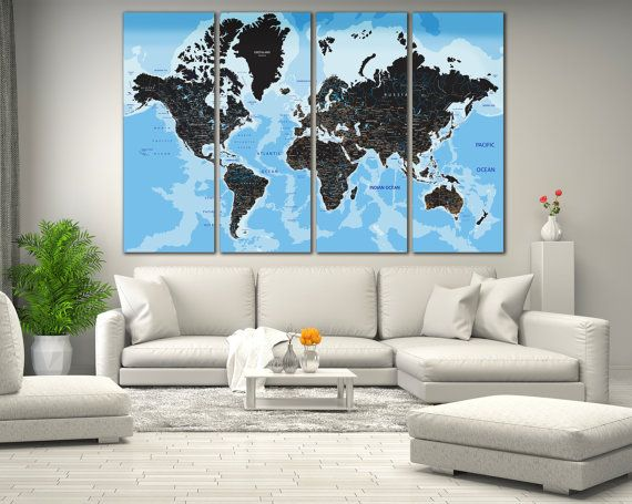 170 best world country maps images on pinterest country maps large wall art world map canvas print large world map wall art living room panel art canvas print real world map large atlas map gumiabroncs Choice Image