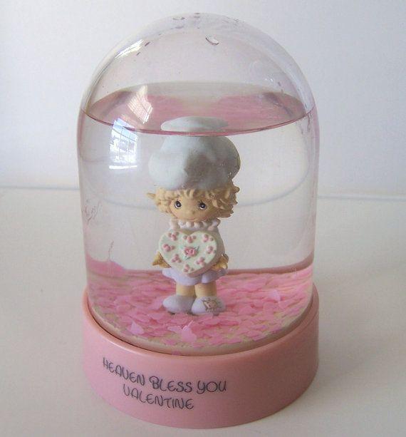 Vintage Valentine Snow Globe Precious Moments by EarthlieTreasures, $10.95