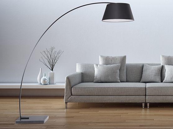 Staande lamp zwart - Stalamp - Leeslamp - Verlichting - BENUE