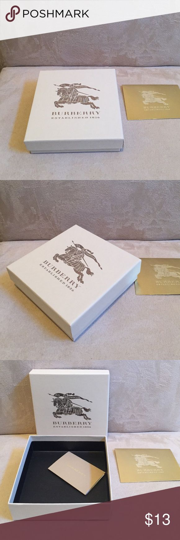 Burberry box for men wallet Burberry box for men wallet. If you would like a shopping bag and other accessories for gift wrapping you can find all in separate listings. Bundle and save money. Burberry Other