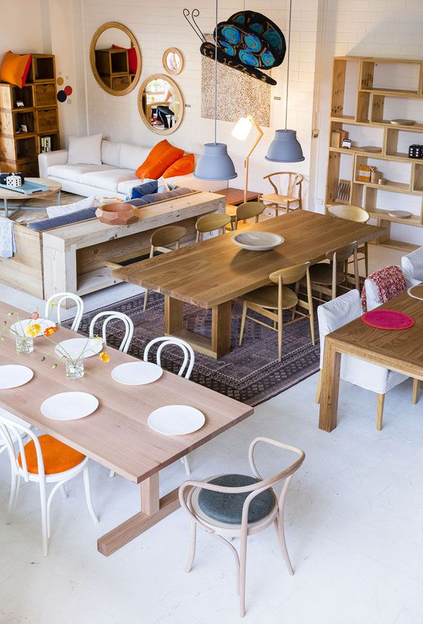 Mark Tuckey - Sydney Store - Thonet No.18 & Le Corbusier bentwood chairs, photo: Jason Busch.