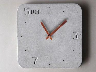 Eine Uhr aus Schnellzement - sieht toll aus! Jemand von euch Erfahrungen, wie  man sie selbst machen könnte?