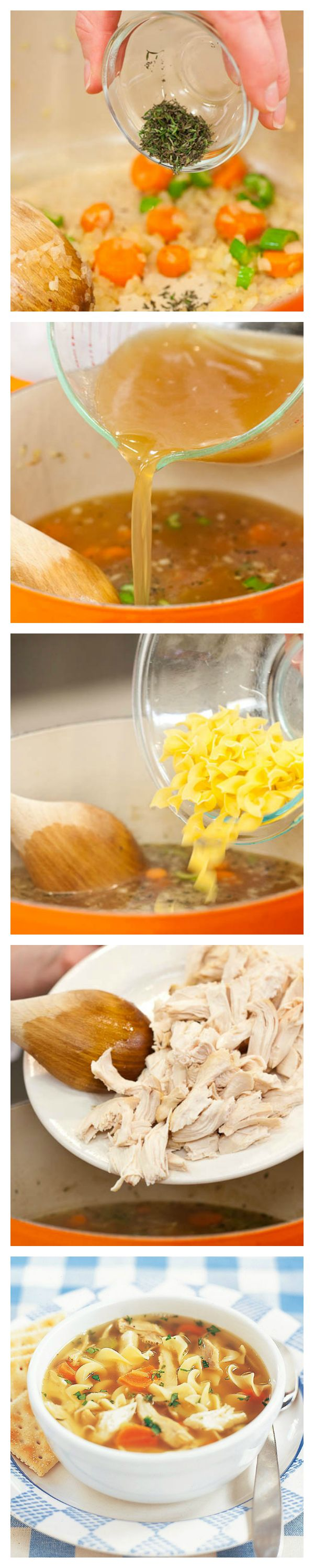 A solid foundation leads to the best results. Let our Online Cooking School show you the basic skills for making Old-Fashioned Chicken Noodle Soup.