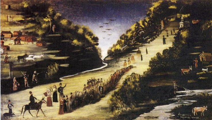 Party by the River Zkheniszkali - Niko Pirosmani