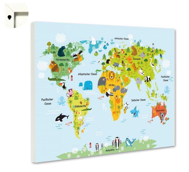 Perfect Details zu Magnettafel Pinnwand Memoboard Motiv Kinderzimmer Weltkarte f r Kinder
