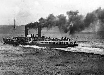 Tour Scotland Photographs: Old Photograph Paddle Steamer Columba River Clyde Scotland