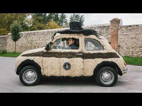 The hairiest car in the world is a Fiat 500 which is covered in 120kg of human hair. If you never thought you'd see that sentence, welcome to one of the cr
