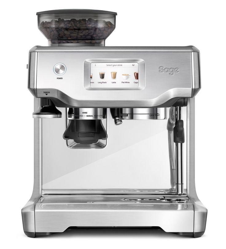 Die Sage Espresso-Maschine Barista Touch bietet ein kompaktes Format. Sie mahlt und dosiert Kaffee automatisch und liefert die richtige Menge Kaffeepulver für maximalen Geschmack.  Das innovative Heizsystem ThermoJet erreicht die optimale Extraktionstemperatur in drei Sekunden und garantiert somit perfekten Kaffeegenuss.