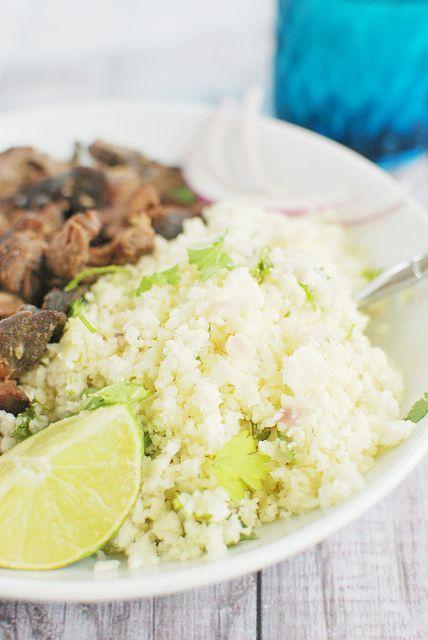 Like Chipotle but healthier: Cilantro-Lime Cauliflower Rice!