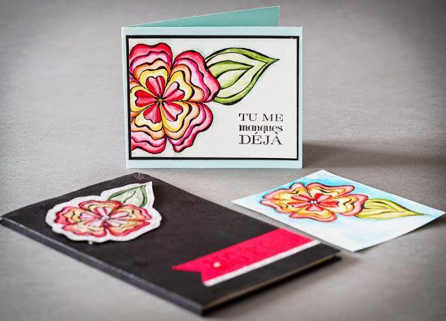 La magie des étampes - Cartes - Scrapbooking - Stampin'Up_doodling