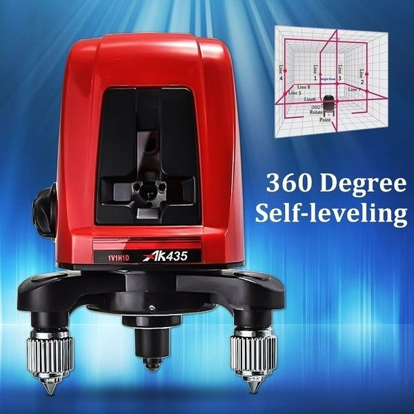 Ak435 Laser Level 2 Lines 1 Point Self Leveling 360 Degree Rotary Horizontal And Vertical Cross Laser Level With Pouch Package Size 98 95 128mm Tools For Sale Things To Sell Ebay