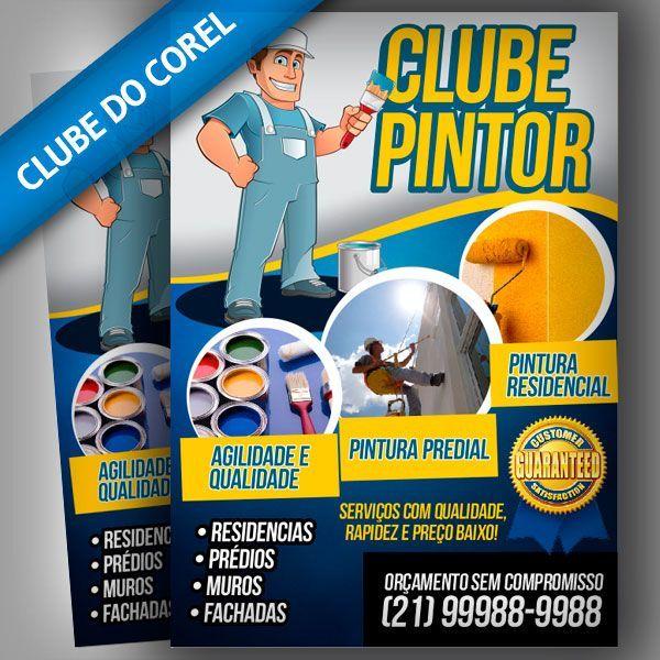 Panfleto Pintor - Modelo Pronto   Clube do Corel                                                                                                                                                                                 Mais