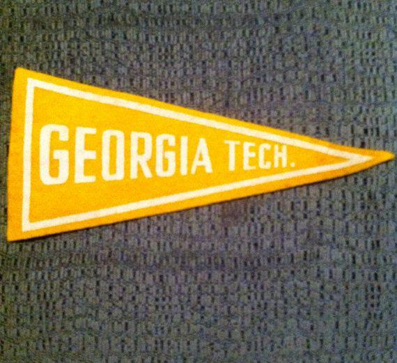40's50's Vintage Georgia Tech Mini Felt Pennant by BmoreUnique, $30.00