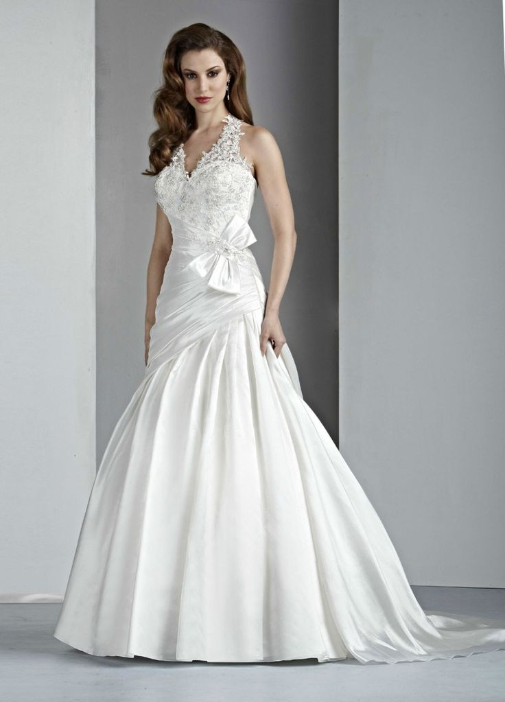 Taffeta A Line Wedding Dress