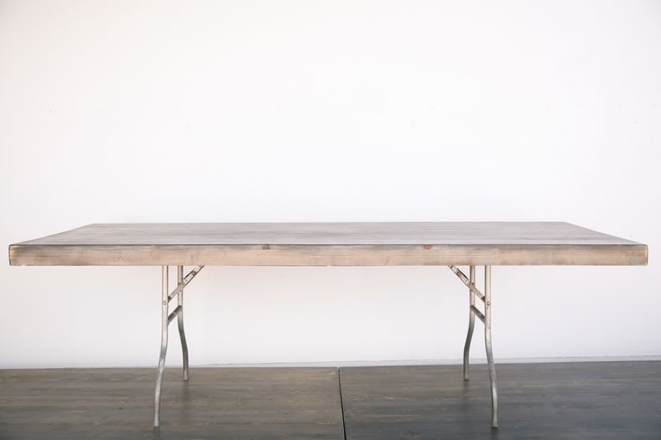 Description: 8'x4' wood table tops with 6' folding table base legs    Fill out our form to place an order or email us for questions at contactoutofthedust@gmail.com  Back To Inventory Page