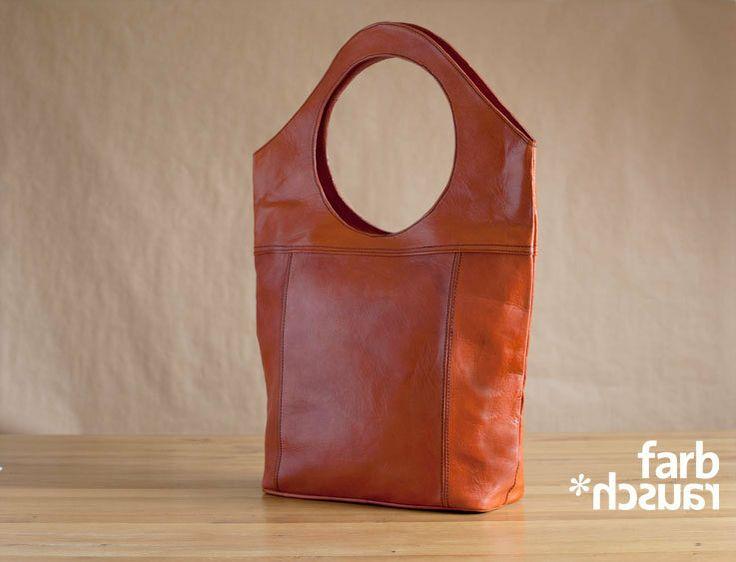 Handtasche Shopper Öko Leder Orange XL FARBRAUSCH von Farbrausch auf DaWanda.com