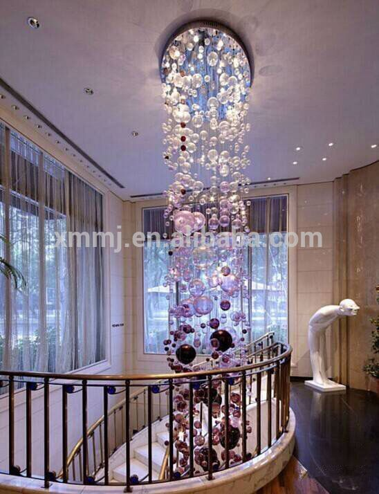 Check out this product on Alibaba.com APP Handmade blowing art murano glass bubble ball hotel decor tall ceiling hanging grape chandelier