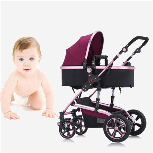 349.30$  Watch here - http://aliiqz.worldwells.pw/go.php?t=32578304031 - Baby Stroller Newborn Infant Carriage Strollers Fashion Pushchair Lightweight Portable Pram for Baby 0-36 Months Flat to Sleep 349.30$