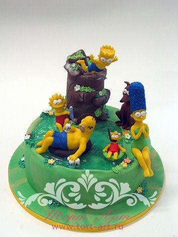 Детские торты — Симпсоны