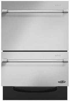 DCS DD24DV2T7 Fully Integrated Dishwasher with 9 Wash Cycles, Two Washing Drawers, Smart Drive Technology, Load Sensing, Fold Down Tines and Adjustable Racks: Stainless Steel with Round Handle