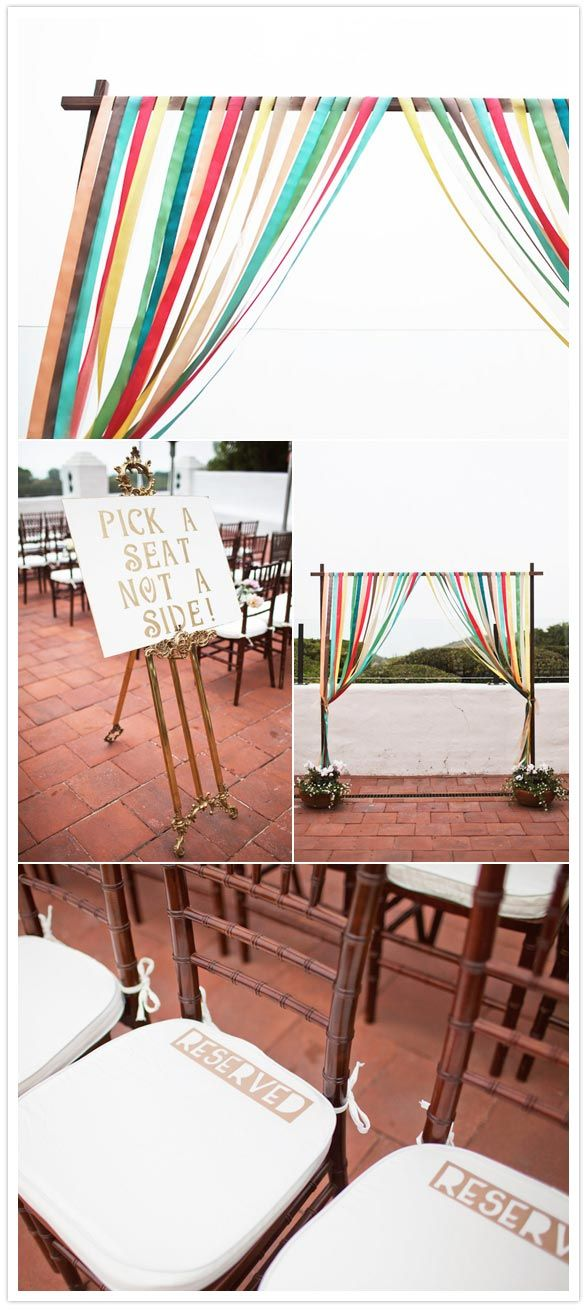 """Pick a seat not a side"" & ""Reserved"" from Blog: 100 layer cake   Photographer: Love Ala"