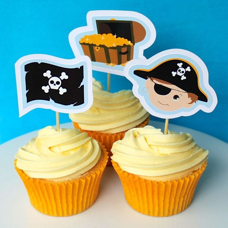 Pirate Cupcake Toppers - 6 Pack