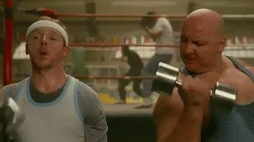 gym simon pegg working out lifting weights #humor #hilarious #funny #lol #rofl #lmao #memes #cute