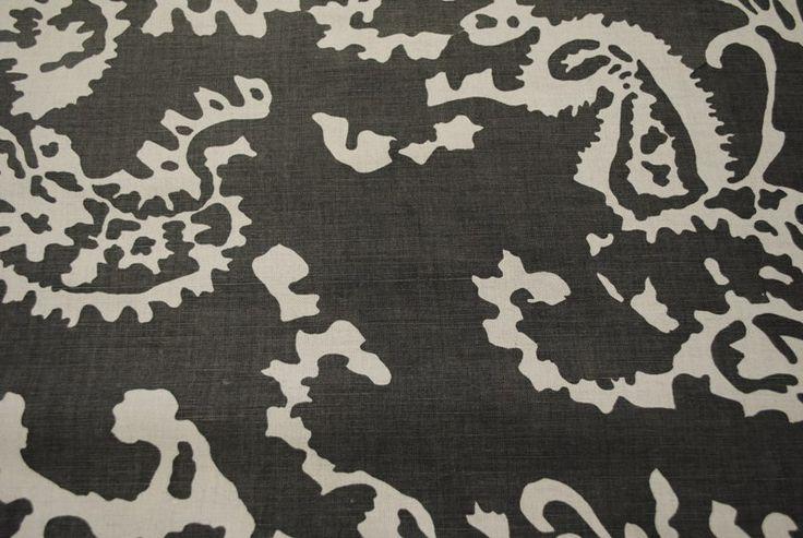Summer of Love Charcoal linen/cotton blend - 137cm