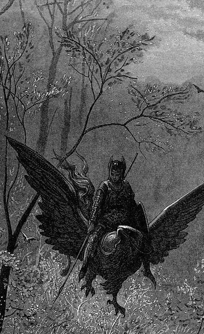 DORÉ, Gustave (1832-1883)  Illustration for Ludovico Ariosto's Orlando Furioso, detail engraving
