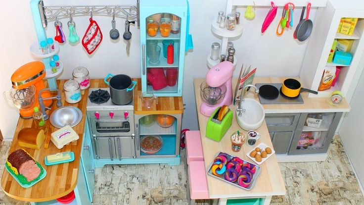 Gourmet Doll Kitchen | How to make American Girl Doll Gourmet Kitchen St...