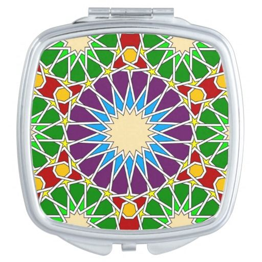 Islamic geometric pattern travel mirrors