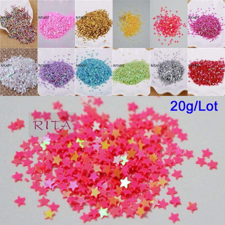 New Hot 20g 3mm Star Shape PVC loose Sequins Glitter Paillettes for Nail Art manicure/sewing/wedding decoration confetti