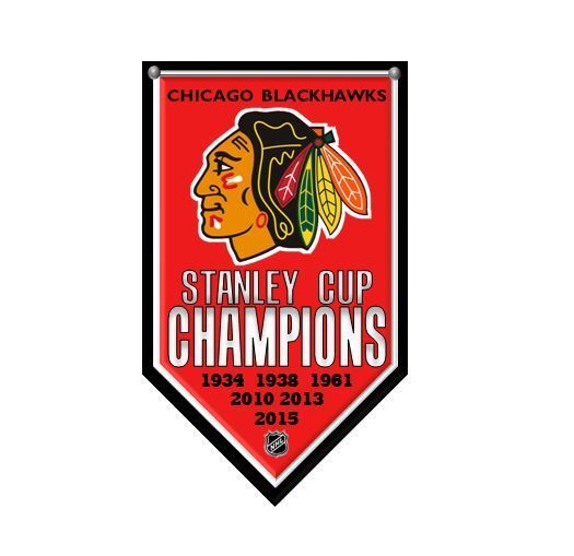 Chicago Blackhawks 6 Time NHL Stanley Cup Champions 2015 Rafter Banner Magnet #ChicagoBlackhawks