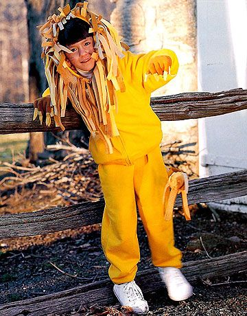 Lion Halloween Costume - How to Make a Child's Lion Halloween Costume - Country Living