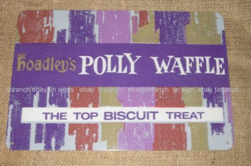 POLLY-WAFFLE-TIN-SIGN Australian made. An old time favourite chocolate bar!