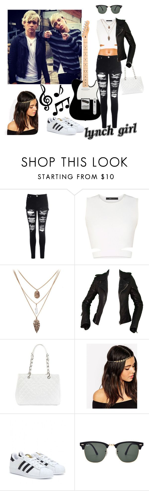 """""""Let's go to the cinema"""" by clariworld ❤ liked on Polyvore featuring Glamorous, BCBGMAXAZRIA, Balenciaga, Chanel, ASOS, adidas and Ray-Ban"""