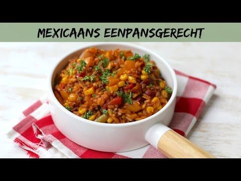 Op zoek naar een lekker recept voor het avondeten? Maak dan eens dit Mexicaanse eenpansgerecht met onder andere mais, rijst en paprika. Super lekker!