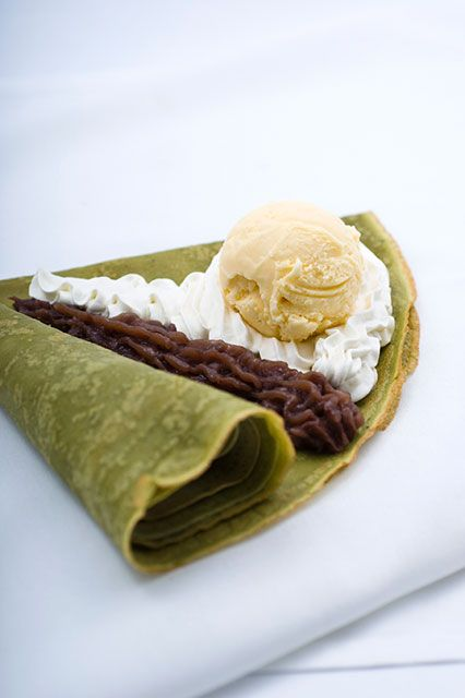 Japanese-style Matcha Crepe in Beverly Hills, CA