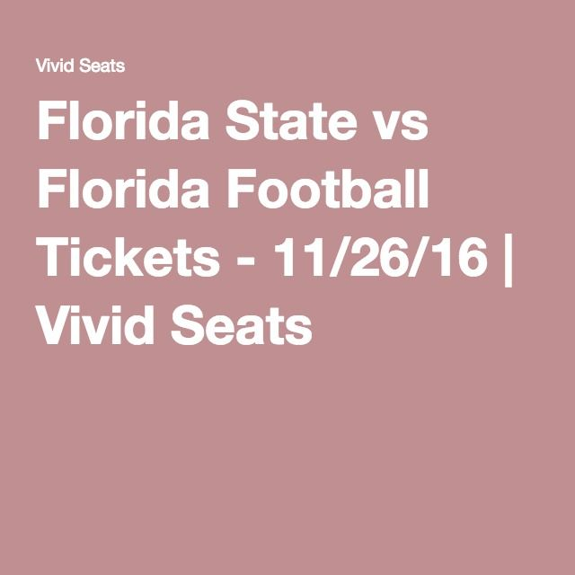 Florida State vs Florida Football Tickets - 11/26/16 | Vivid Seats