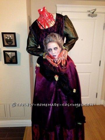 scary headless marie antoinette homemade halloween costume - Homemade Scary Halloween Costume Ideas