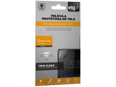 Película Protetora para iPhone 6 Plus Preto - ELG com as melhores condições você encontra no Magazine Slgfmegatelc. Confira!